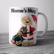 Personalised Mug / Cup - Teddy Bear - Christmas Gift / Secret Santa - Any NAME