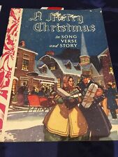 Vintage Antique Historical Christmas Song Verse & Story Stunning Images Book