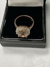 18k Rose Gold Morganite & Diamond Ring