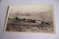 Rare Vintage RPPC Real Photo Postcard B1 Alaska P1428 A Camp On The Trail Tents