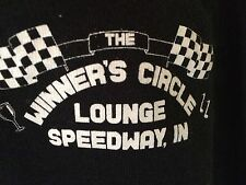 T-SHIRT  L 100% COTTON -BLACK- THE WINNER'S CIRCLE LOUNGE SPEEDWAY,IN  a