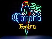 "New Corona Extra Parrot Bird Palm Tree Neon Sign Beer Bar Pub Gift Light 17""x14"""