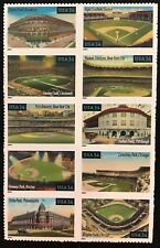 2001 Scott #3510-3519, 34¢, LEGENDARY MAJOR LEAGUE FIELDS - MNH - Block of 10