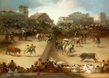 Bullfight in a Divided Ring, GOYA, Romanticism, Rococo Art Poster