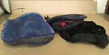 3 Antique Vintage Ladies Hats Victorian Flapper Glenover Wool Black Blue