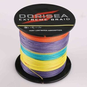 Dorisea 100M/109Yards 100lbs 0.55mm Extreme Multi-Color Braided Fishing Line