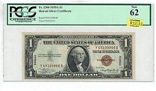 1935A HAWAII SILVER CERTIFICATE $1. Fr. 2300. PCGS NEW 62! Y-B BLOCK