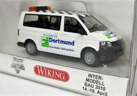 Wiking 1:87 VW T5 Bus Multivan OVP 0308 72 Flughafen Dortmund - Intermodellbau