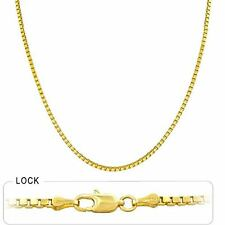"6.60 gm 14k Yellow Gold Solid Box Chain Women's / Men's Necklace 22"" (1.30 mm)"