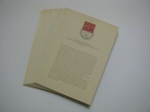 Berlin-1956-1958-Kpl.Ausgaben amtl.Ersttagsblätter Mi.1210 Euro.