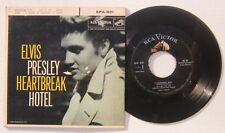ELVIS PRESLEY - HEARTBREAK HOTEL EP Picture Sleeve & Record RCA EPA-821 VG+/VG+