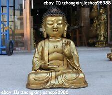 """16"""" Tibet Tibetan Bronze Gild Buddhist Monastery Sakyamuni Buddha Statue"""
