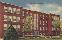Postcard Grade School Boys Town Nebraska