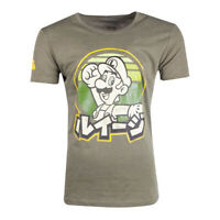 NEW! Nintendo Super Mario Bros. Luigi T-Shirt Male Xl Green TS206281NTN-XL