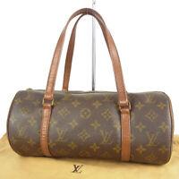 Auth LOUIS VUITTON Vintage M51385 Monogram Papillon 30 Hand Bag France 14083bkac