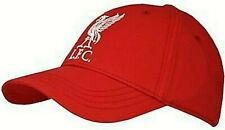 Liverpool FC Embroidered White Crest Adult Red Baseball Cap Official LFC