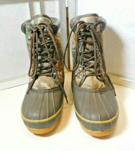 GAME WINNER Camo Hunting Winter Boots SIZE 8