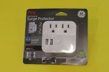NEW GE Pro Surge Protector 2 Outlets & 2 USB Charging Ports Free Shipping!