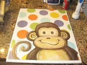 STUPELL ART OF MONKEY WITH BIG DOTSSD MEASURES 12X14 1/2 WALL PHOTO