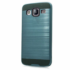 Brushed Hybrid Phone Case for Samsung Galaxy On5 G550 - Blue