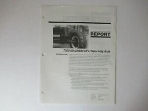 1995 Case CASEIH 7200 Magnum tractor MFD special axle product data info brochure