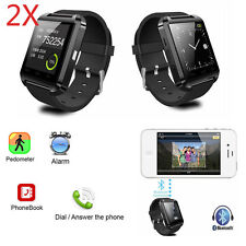 2pcs  Bluetooth Smart Watch Call Sync for Android Men Women Samsung LG Google