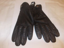 New Dents Black Leather Gloves Size M