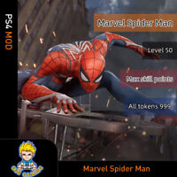 Marvel Spider-Man (PS4)Mod- MAX level 50/ 999 All Tokens/99 Skill Points