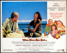 WHEN TIME RAN OUT 1980 Paul Newman, Jacqueline Bisset, Red Buttons 7 LOBBY CARDS