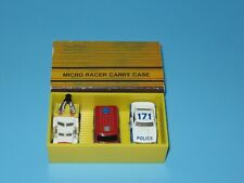 1988 Soma Micro Racer Carry Case With 3 Micro Machines Emergency Vehicles