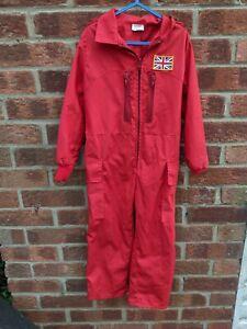 Light used VGC Red Arrows Kids Childs Flight Suit RAF Fancy Dress Up Oufit  4-5y