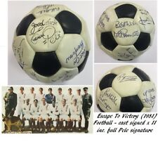 More details for pele signed escape to victory england football & photo uacc rare autographed x20