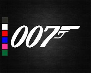 007 JAMES BOND MOVIE FILM VINYL DECAL STICKER CAR/VAN/WALL/DOOR/LAPTOP/WINDOW