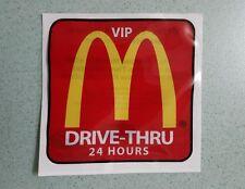 McDonalds Malaysia VIP DRIVE THRU CAR STICKER RARE NEW Through 24Hours McD Decal