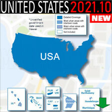 Usa United States Gps 2021.10 Navigation Map For Garmin Devices - Latest Map -