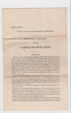 Post Office 1897 Civi Service instructions  for applicants for Post office work