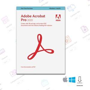 Adobe Acrobat Pro 2020 (Win or Mac) - Download Version