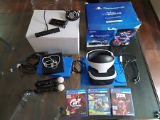 Sony Playstation VR Kit + telecamera +Worlds+3giochi+2PS mouve PS4 Casco virtual