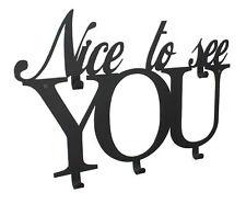 Perchero de pared Nice To See You Gancho la metal 50cm para ropa
