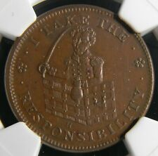 USA 1837 HT-69 I Take The Responsibility Low 51 Hard Times Token NGC MS 61 BN