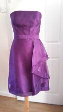 Dessy Knee Length Plum Dress Prom Bridesmaid African Violet UK6616 Size 8 -10