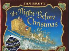 Night Before Christmas Adaptation by Jan Brett Clement Moore Classic New HC DJ