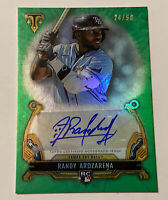 2020 Topps Triple Threads EMERALD Randy Arozarena /50 Rookie RC AUTO AUTOGRAPH💰