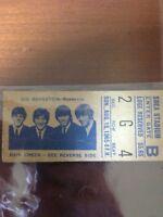 1965 The Beatles Concert Ticket Stub Shea Stadium Ultra rare!