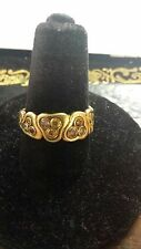 Stunning Alex Sepkus 18kt gold and natural color diamond ring