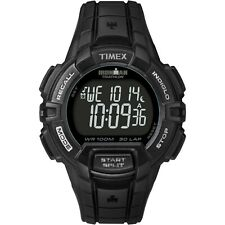 TIMEX IRONMAN MEN'S - BLACK CASE & GRAY ACCENTS - DIGITAL 30-LAP RUGGED T5K793