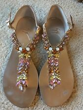 d6bb1054dc5 Authentic Guiseppe Zanotti Rhinestone Crystal Sandals Shoes Size 36 Mint  RARE!