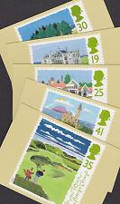 La Grande-Bretagne GB 1994 inutilisés PHQ Set complet cartes des timbre parcours de Golf écossais ladécisionno 163