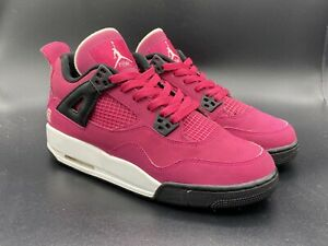 Kids 2012 Air Jordan 4 GS Voltage Cherry FTLOTG Size 7y 487724-601 CRAZY COLOR!!