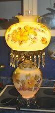 Beautiful hand painted gwtw gone with the wind lamp 1 of a kind beauty